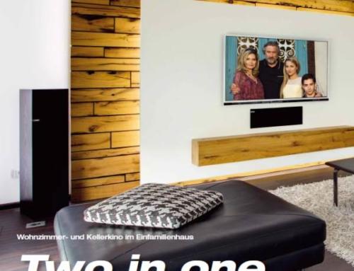 Wohnzimmer- und Kellerkino in einem Haus